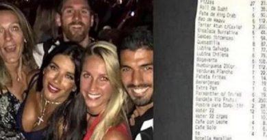 """Messi và """"Phi đội Messi""""trác táng hết 37.330 euro"""