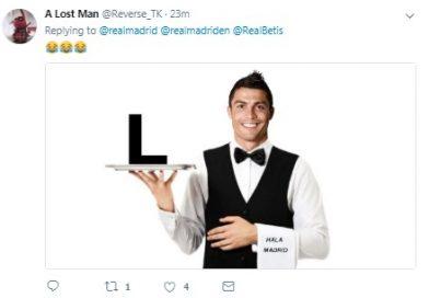 Hình ảnh Ronaldo bị lôi ra chế giễu sau trận thua 0-1 trước Betis