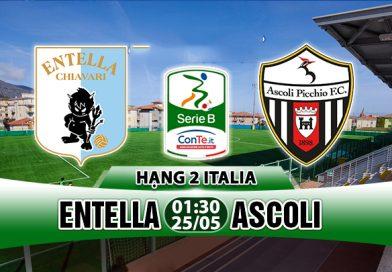 Nhận định Entella vs Ascoli, 01h30 ngày 25/05: Trần cầu quyết chiến