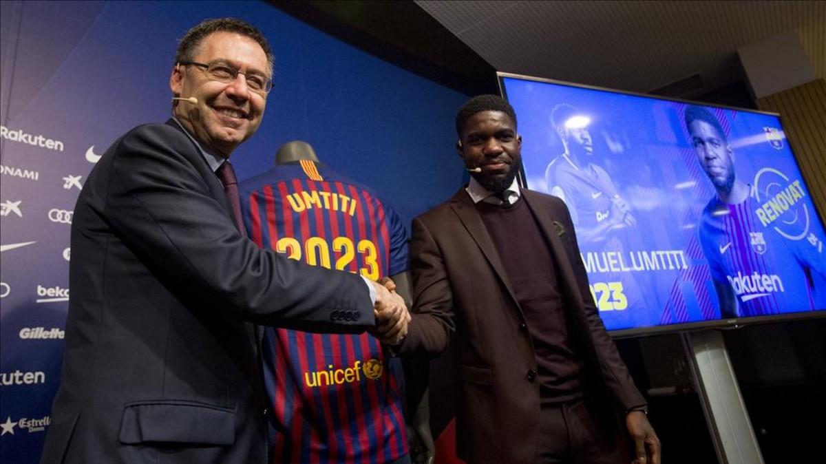Barca đã gia hạn với Umtiti