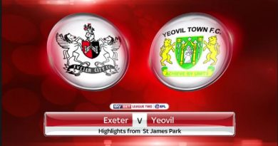 Yeovil vs Exeter (01h45 ngày 05/09, EFL Trophy)