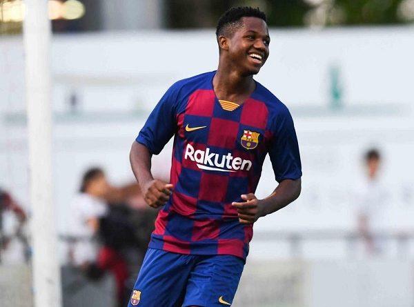 Barca muốn thần đồng Ansu Fati 'vượt cấp' lên đội U21 Tây Ban Nha