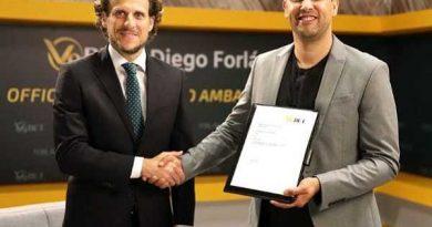 Cơ duyên trở thành đại sứ thương hiệu của V9BET của Diego Forlán