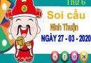 Soi cầu XSNT ngày 27/3/2020 – Soi cầu xổ số Ninh Thuận thứ 6