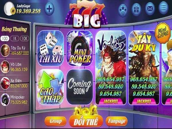 Chắc chắn khi tham gia tại cổng game Big777 club, đam mê về game bài, slot game của bạn sẽ được thỏa mãn