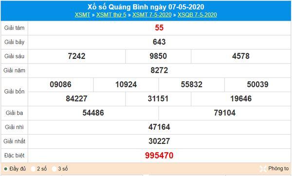 Soi cầu XSQB 14/5/2020 - KQXS Quảng Bình thứ năm