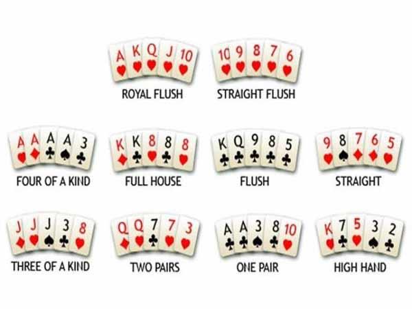 Thứ tự bài trong Poker mà người chơi nào cũng nên nắm được