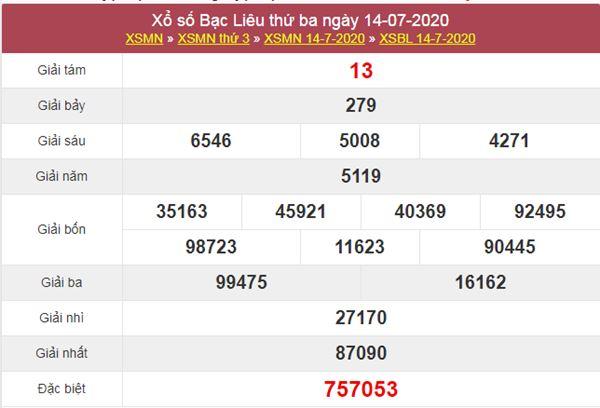 Soi cầu XSBL 21/7/2020 chốt lô Bạc Liêu thứ 3 siêu chuẩn