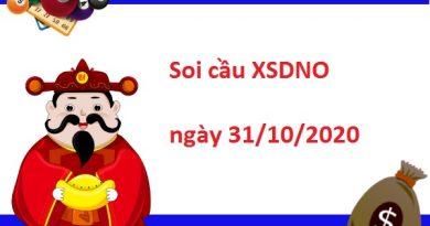 Soi cầu XSDNO 31/10/2020