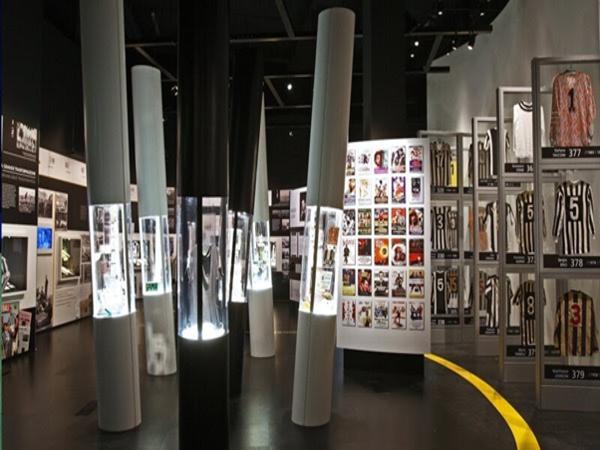 Khu bảo tàng lưu niệm bên trong sân vận động Juventus.