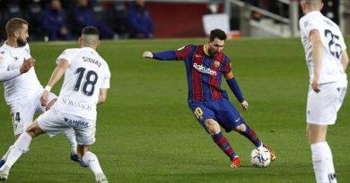 Tin thể thao tối 16/3: Messi lập thêm kỷ lục ở La Liga