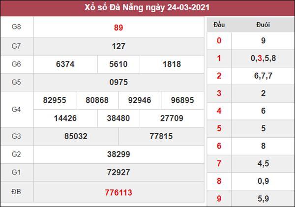 Thống kê XSDNG 27/3/2021 chốt loto gan Đà Nẵng thứ 7