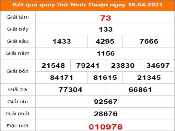 Quay thử Ninh Thuận ngày 16/4/2021 thứ 6