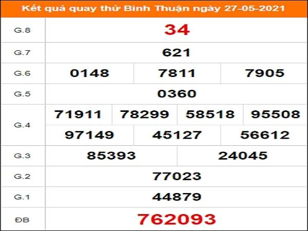Quay thử Bình Thuận ngày 27/5/2021 thứ 5