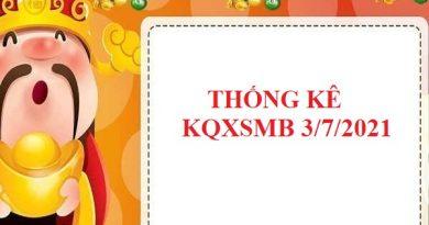 Thống kê chi tiết KQXSMB 3/7/2021