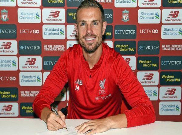 Tin bóng đá tối 31/8: Henderson ký hợp đồng mới với Liverpool